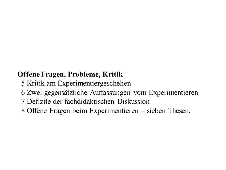 Gliederung (Forts.)