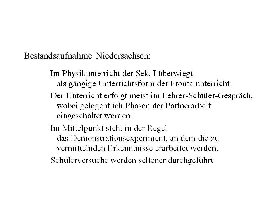 Bestandsaufn. Nds. Bestandsaufnahme Niedersachsen: