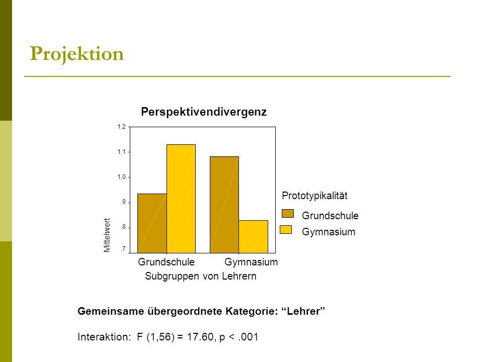 Projektion Perspektivendivergenz