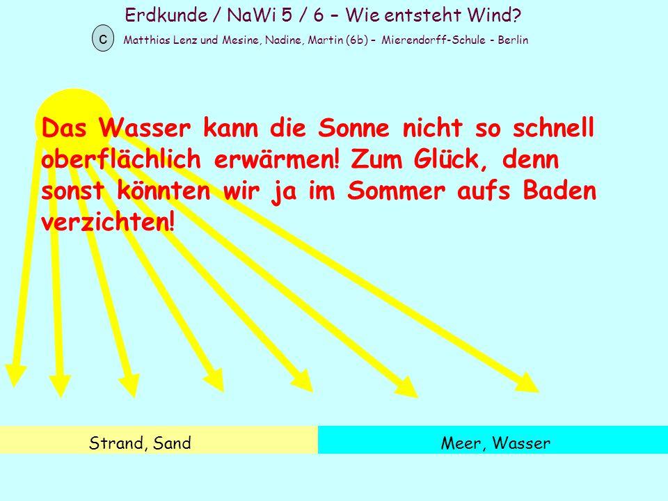 Erdkunde / NaWi 5 / 6 – Wie entsteht Wind