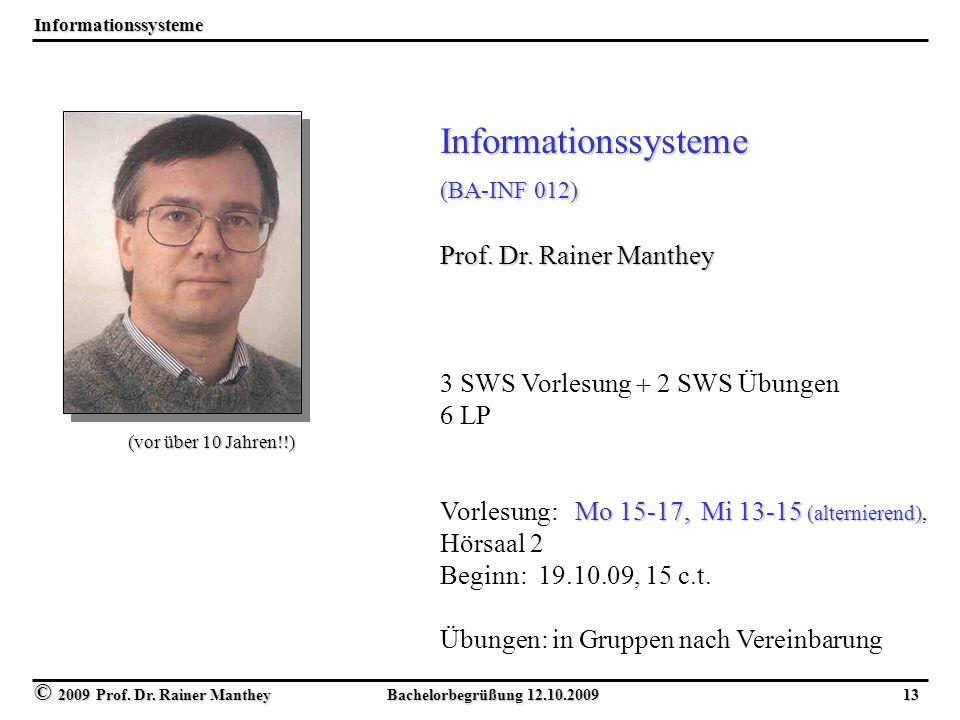 Informationssysteme Prof. Dr. Rainer Manthey