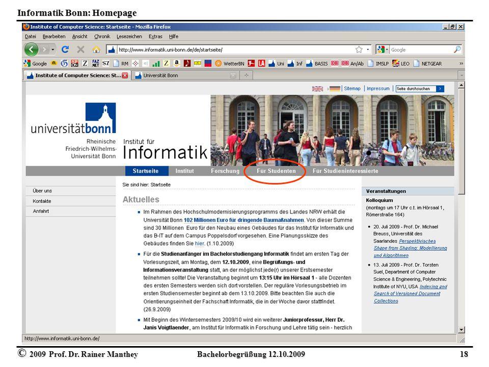 Informatik Bonn: Homepage