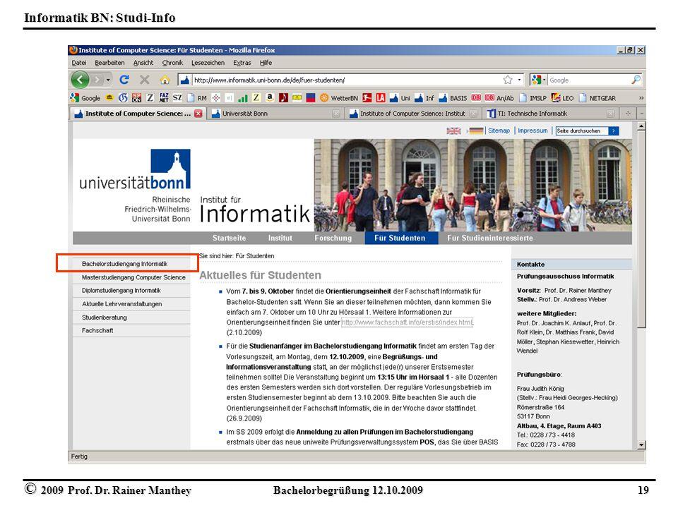 Informatik BN: Studi-Info