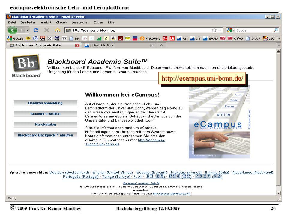 ecampus: elektronische Lehr- und Lernplattform