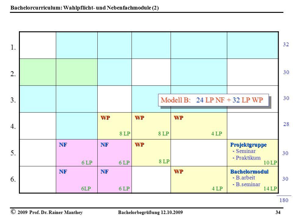 Bachelorcurriculum: Wahlpflicht- und Nebenfachmodule (2)