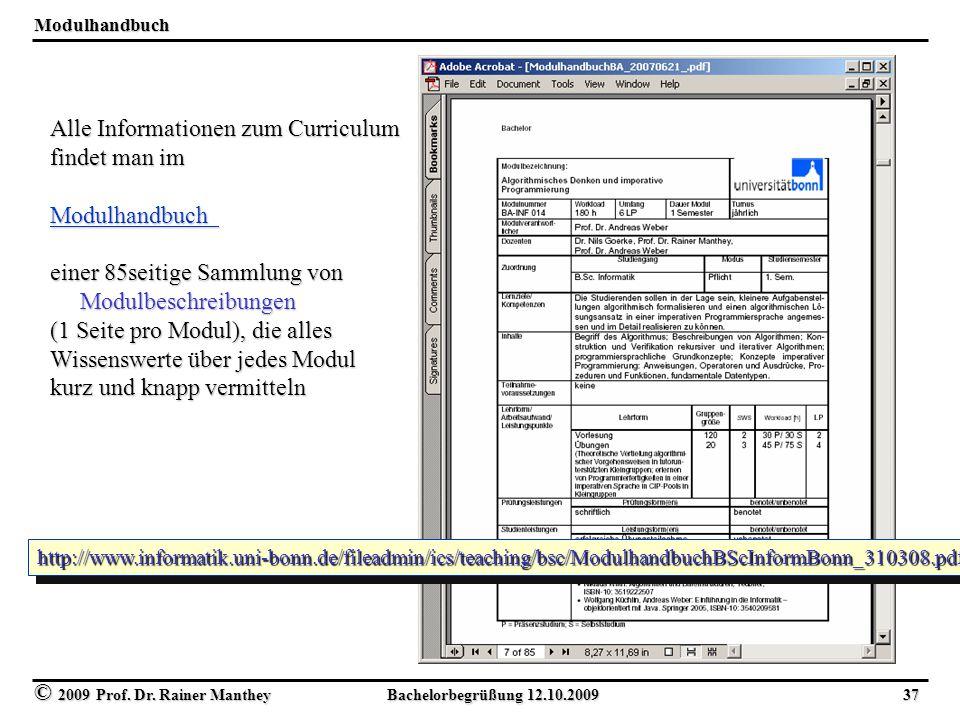 Alle Informationen zum Curriculum findet man im Modulhandbuch