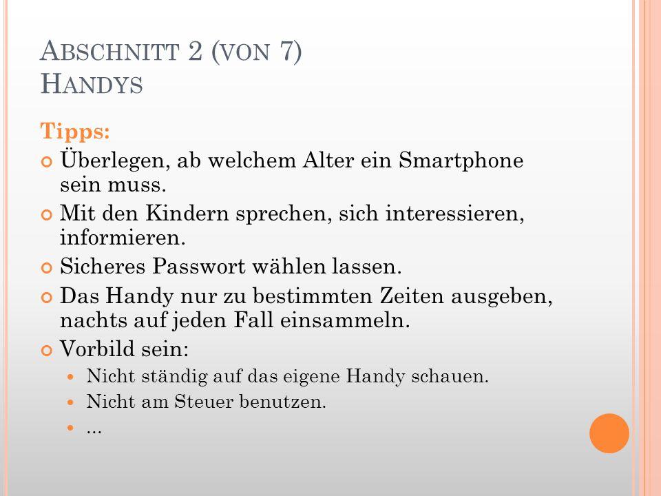 Abschnitt 2 (von 7) Handys