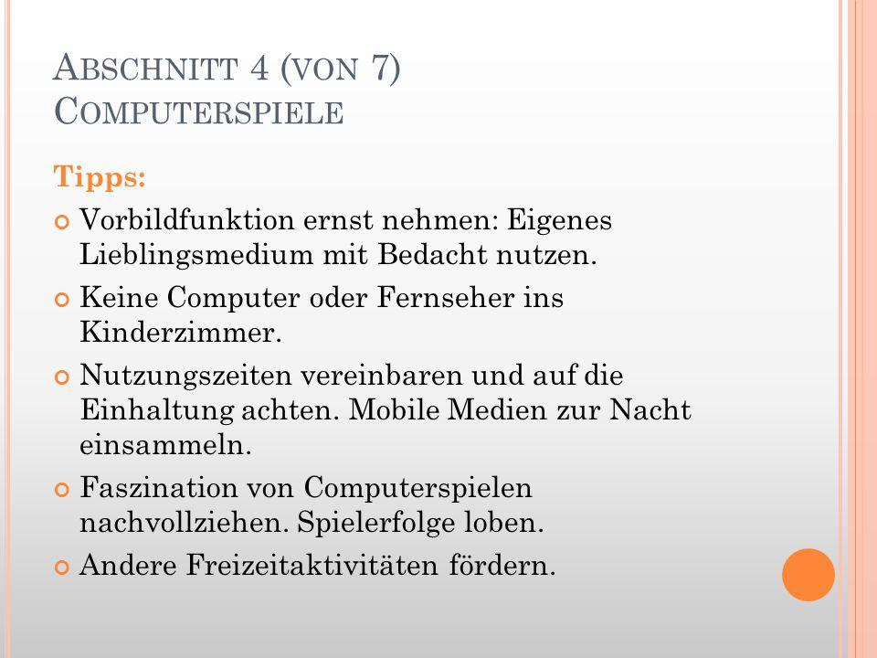 Abschnitt 4 (von 7) Computerspiele