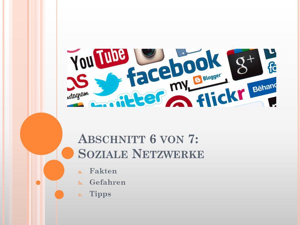 Abschnitt 6 von 7: Soziale Netzwerke