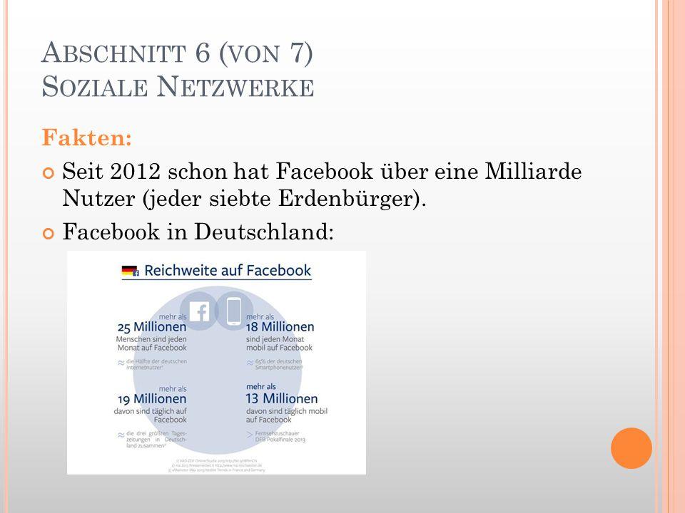 Abschnitt 6 (von 7) Soziale Netzwerke