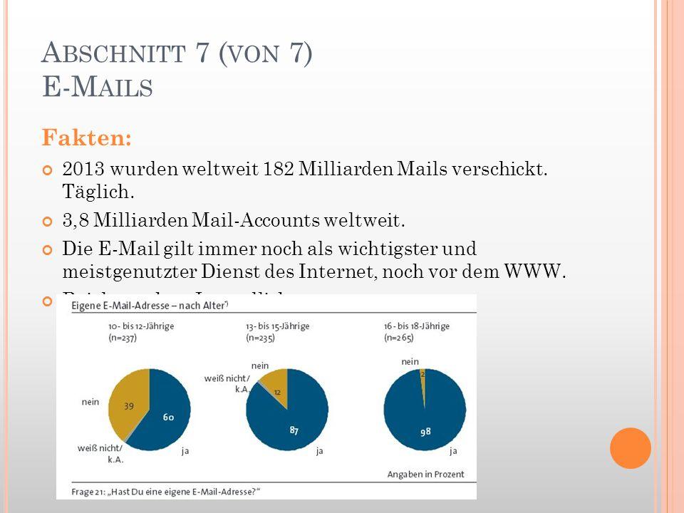 Abschnitt 7 (von 7) E-Mails