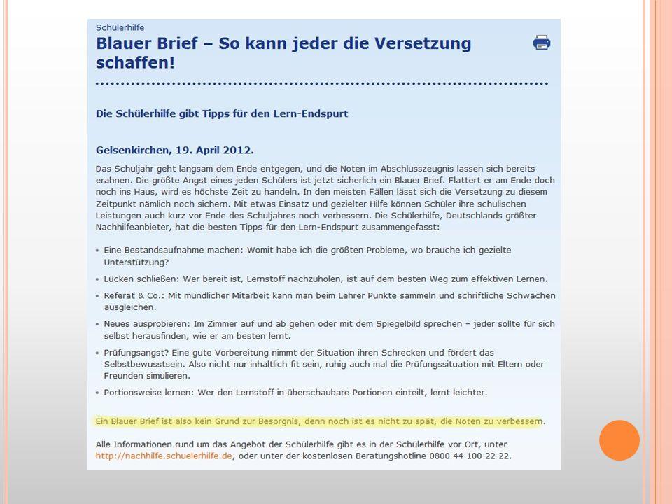 Von der Internetseite der Schülerhilfe (gibt es auch hier in Jügesheim