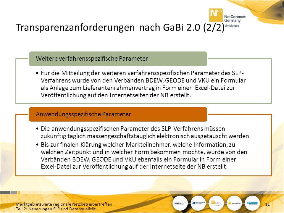 Transparenzanforderungen nach GaBi 2.0 (2/2)