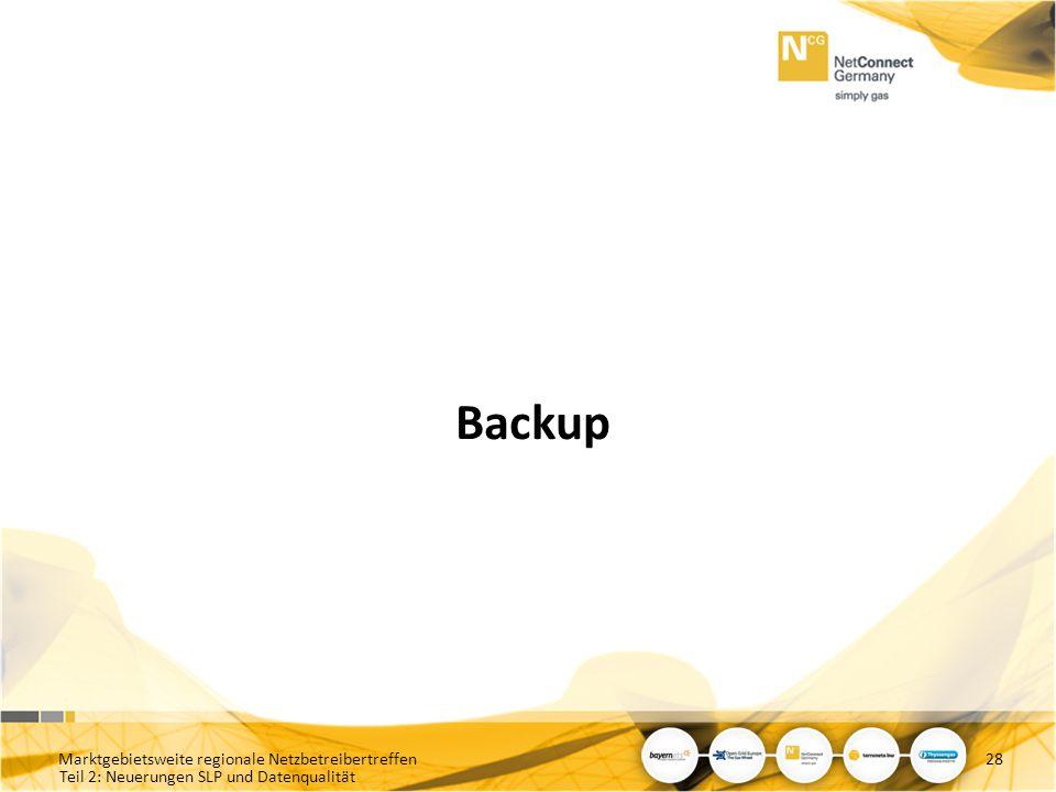 Backup Marktgebietsweite regionale Netzbetreibertreffen