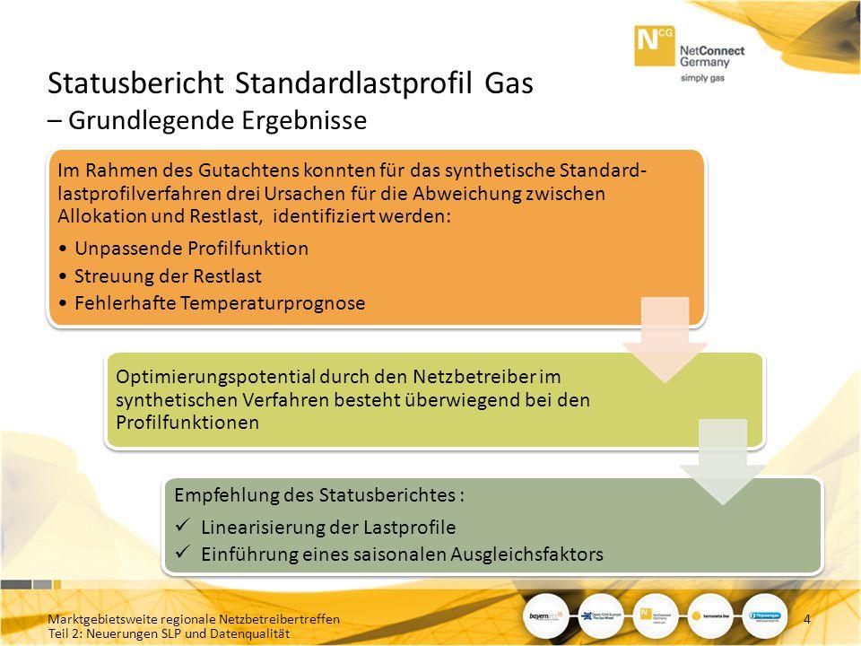 Statusbericht Standardlastprofil Gas – Grundlegende Ergebnisse