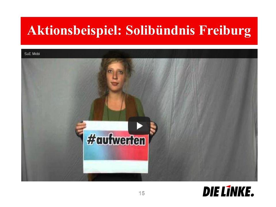 Aktionsbeispiel: Solibündnis Freiburg