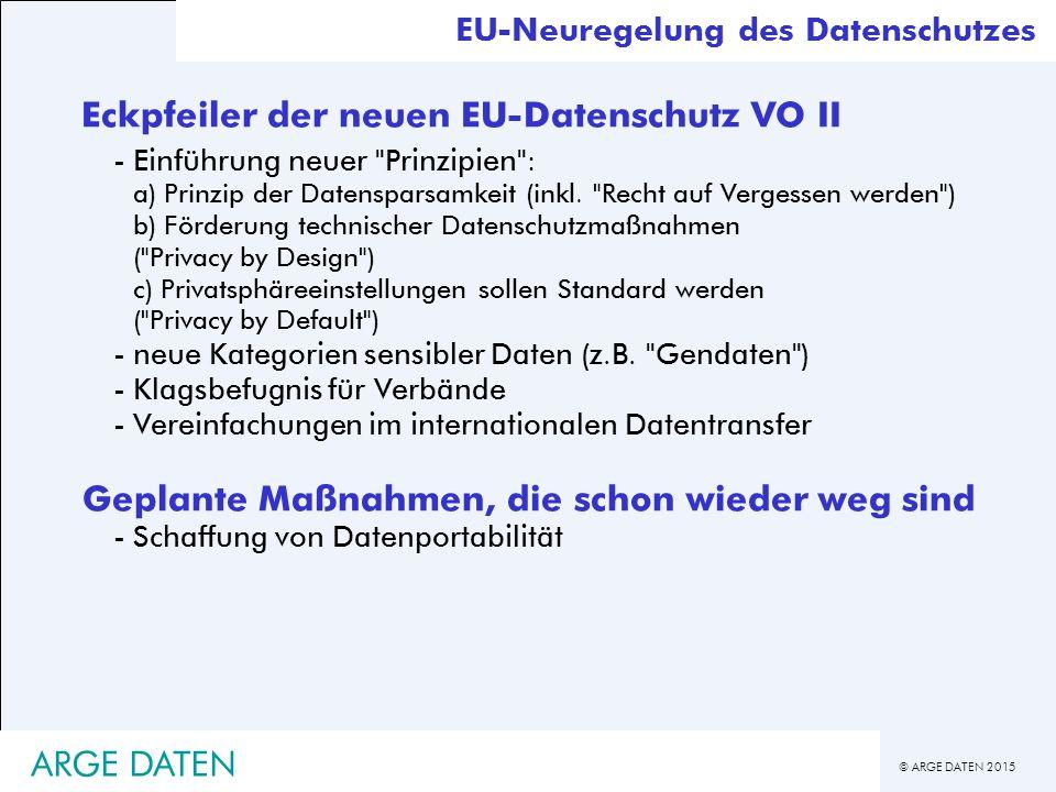 Eckpfeiler der neuen EU-Datenschutz VO II