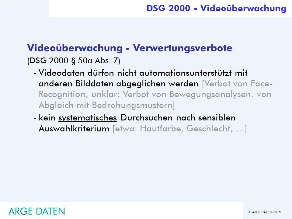 Videoüberwachung - Verwertungsverbote