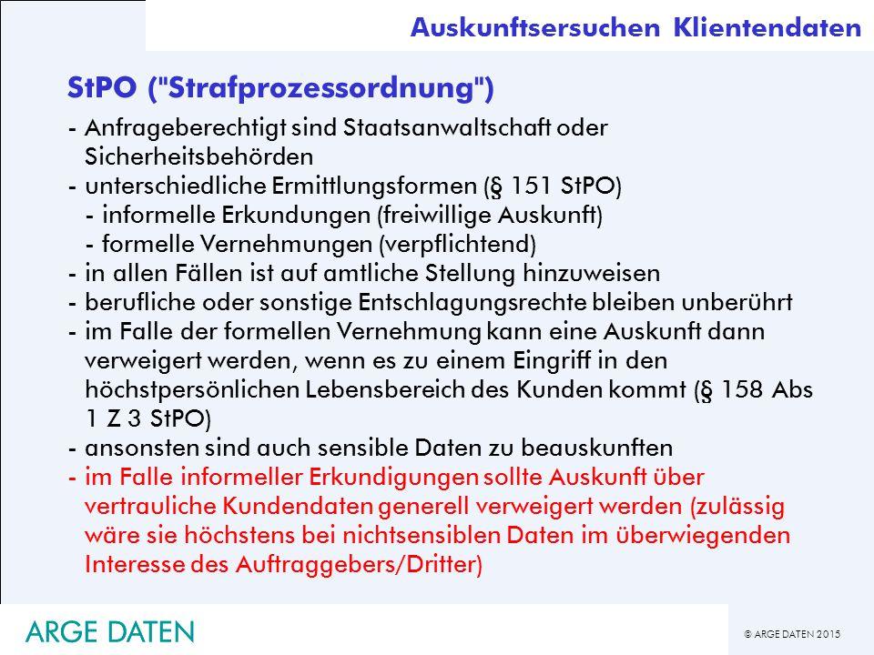 StPO ( Strafprozessordnung )