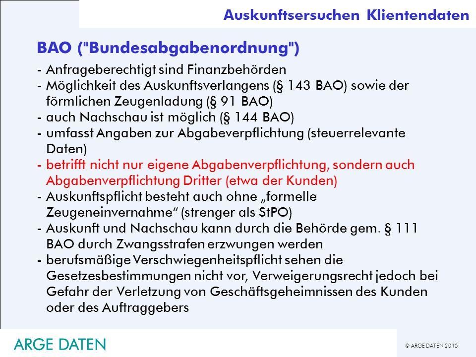 BAO ( Bundesabgabenordnung )