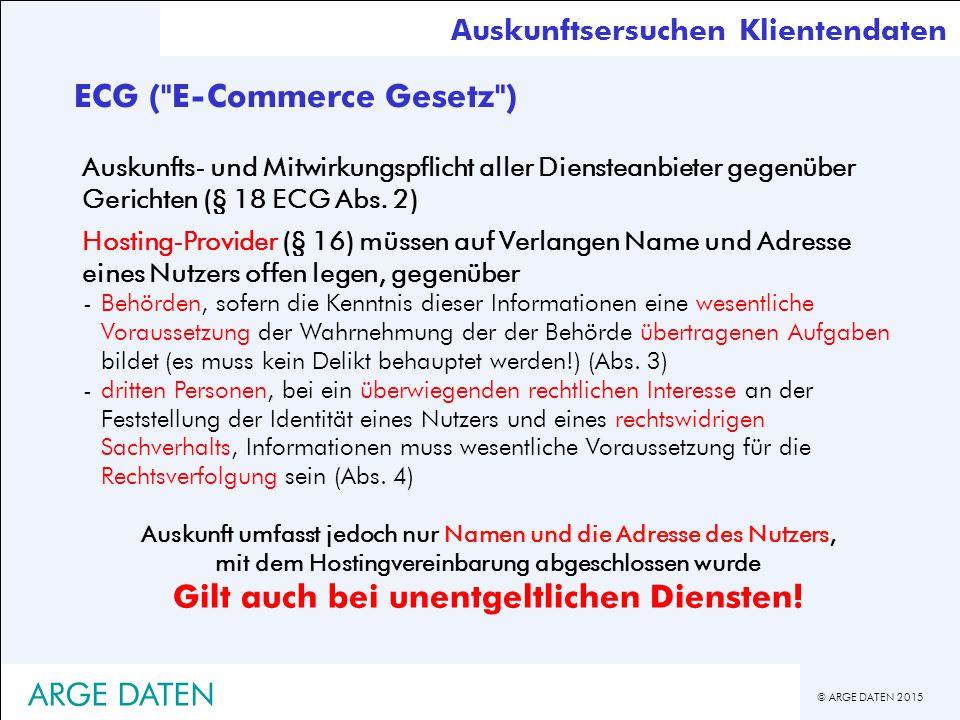 ECG ( E-Commerce Gesetz )