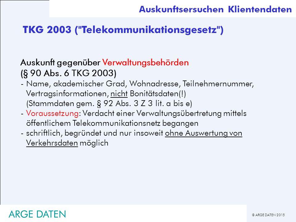 TKG 2003 ( Telekommunikationsgesetz )