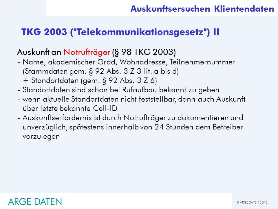 TKG 2003 ( Telekommunikationsgesetz ) II