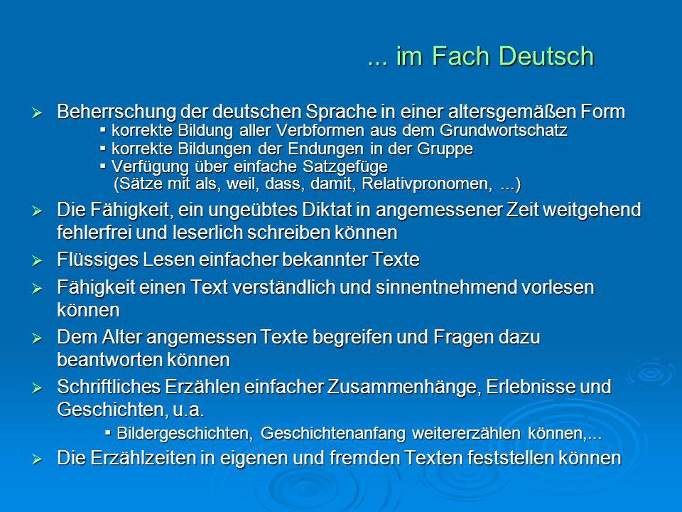 ... im Fach Deutsch