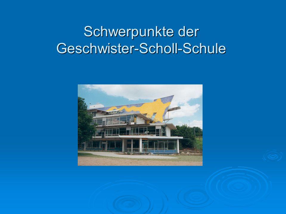 Schwerpunkte der Geschwister-Scholl-Schule