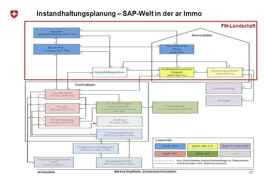 Instandhaltungsplanung – SAP-Welt in der ar Immo