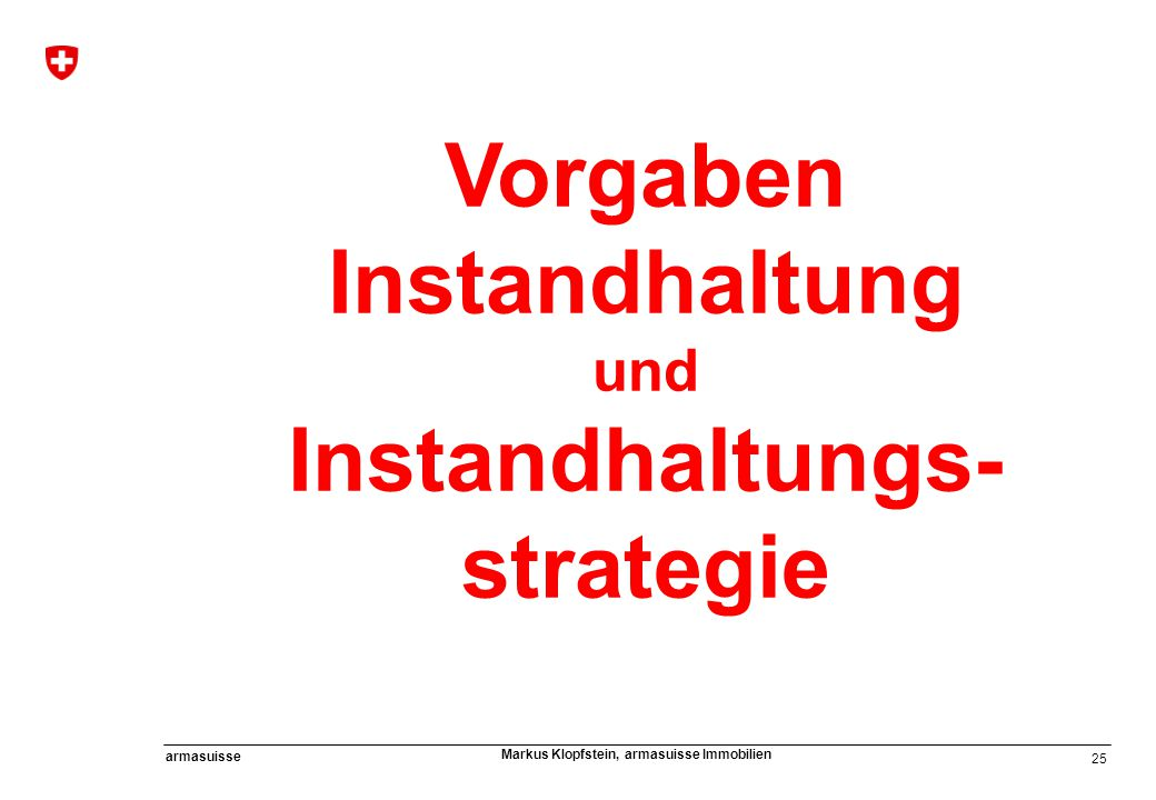 Vorgaben Instandhaltung Instandhaltungs-strategie
