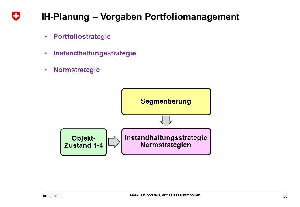 Instandhaltungsstrategie Normstrategien