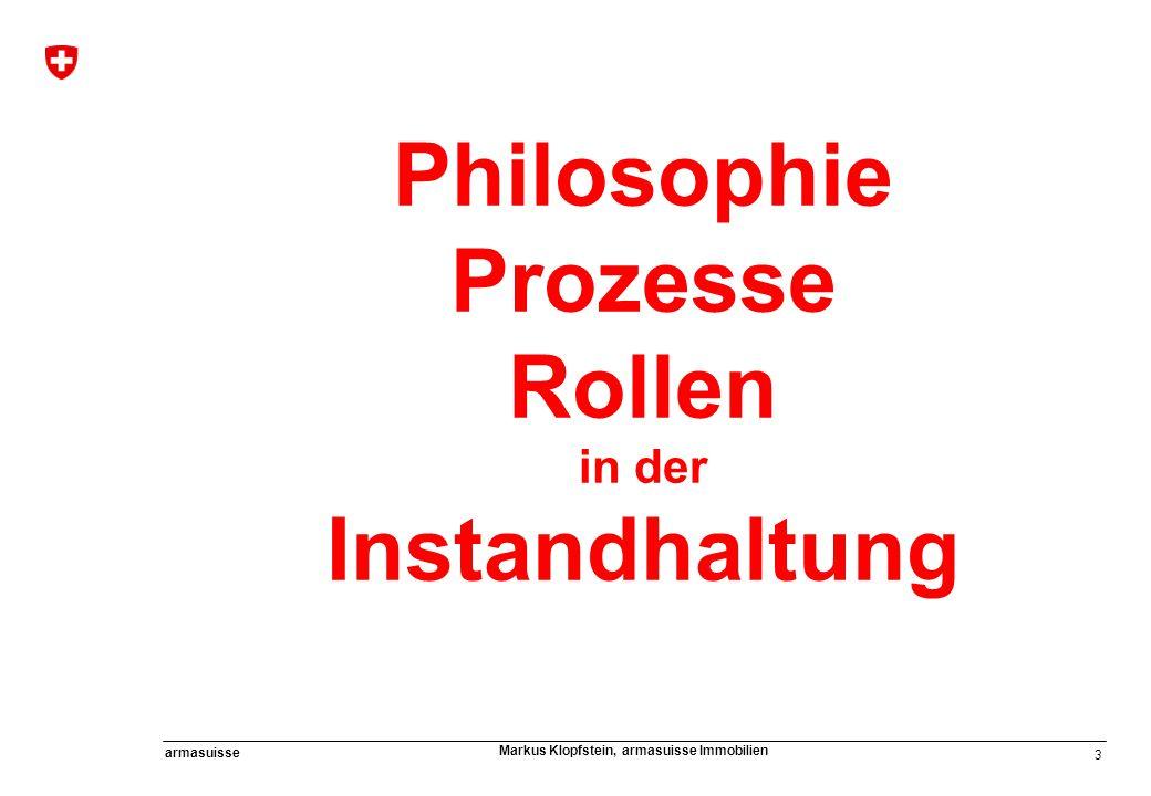 Philosophie Prozesse Rollen Instandhaltung
