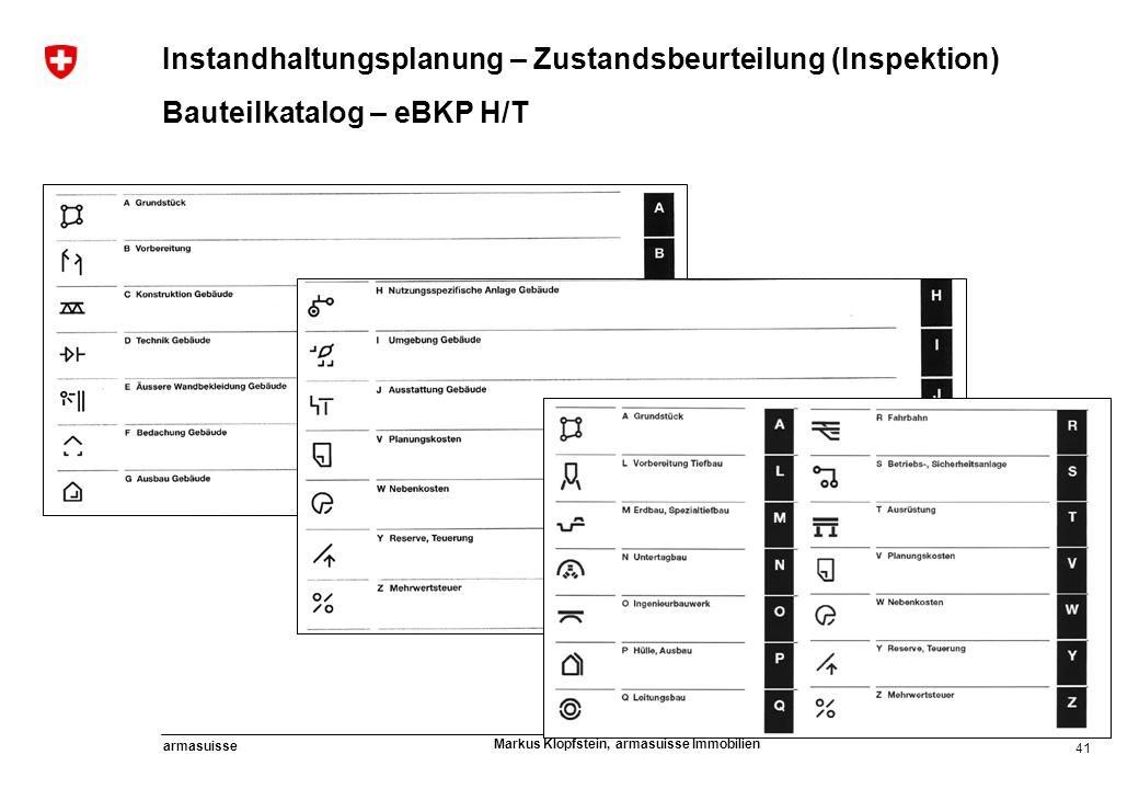 Instandhaltungsplanung – Zustandsbeurteilung (Inspektion)
