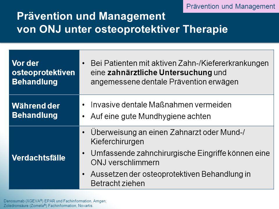 Prävention und Management von ONJ unter osteoprotektiver Therapie
