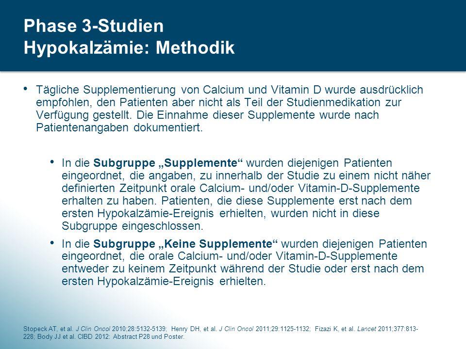Phase 3-Studien Hypokalzämie: Methodik