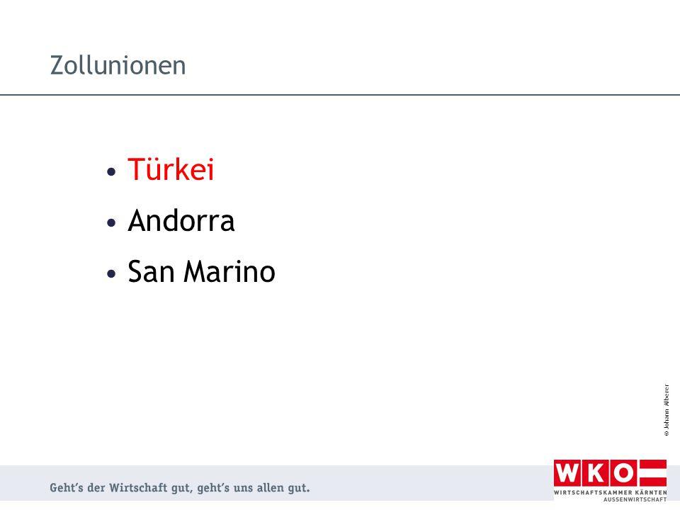 Zollunionen Türkei Andorra San Marino