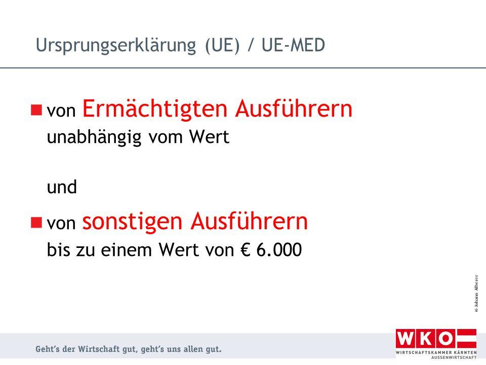 Ursprungserklärung (UE) / UE-MED