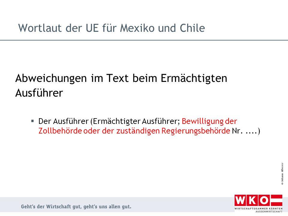 Wortlaut der UE für Mexiko und Chile