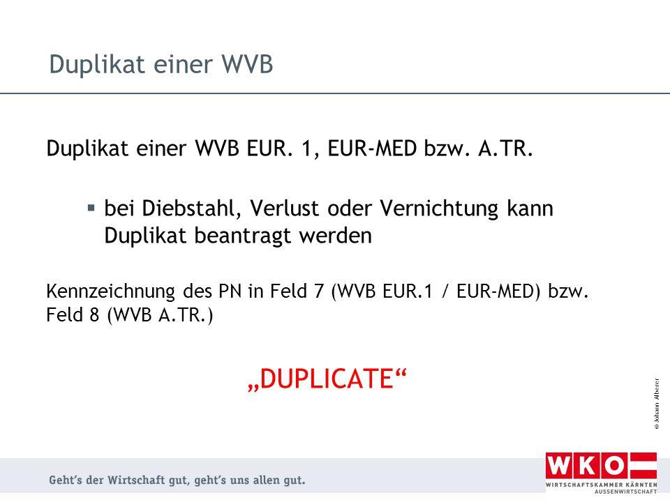"""""""DUPLICATE Duplikat einer WVB"""