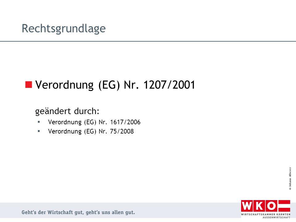 Verordnung (EG) Nr. 1207/2001 geändert durch: