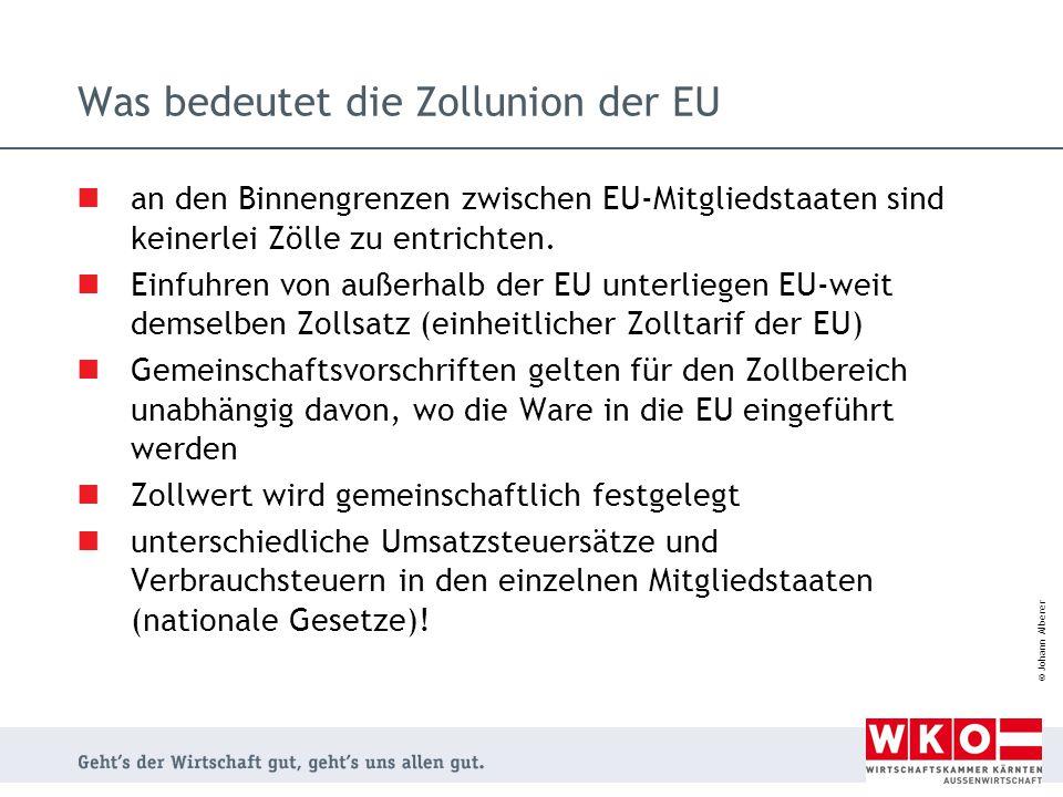 Was bedeutet die Zollunion der EU