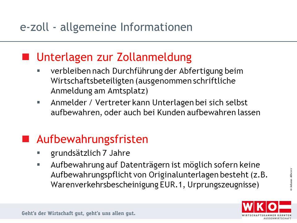 e-zoll - allgemeine Informationen