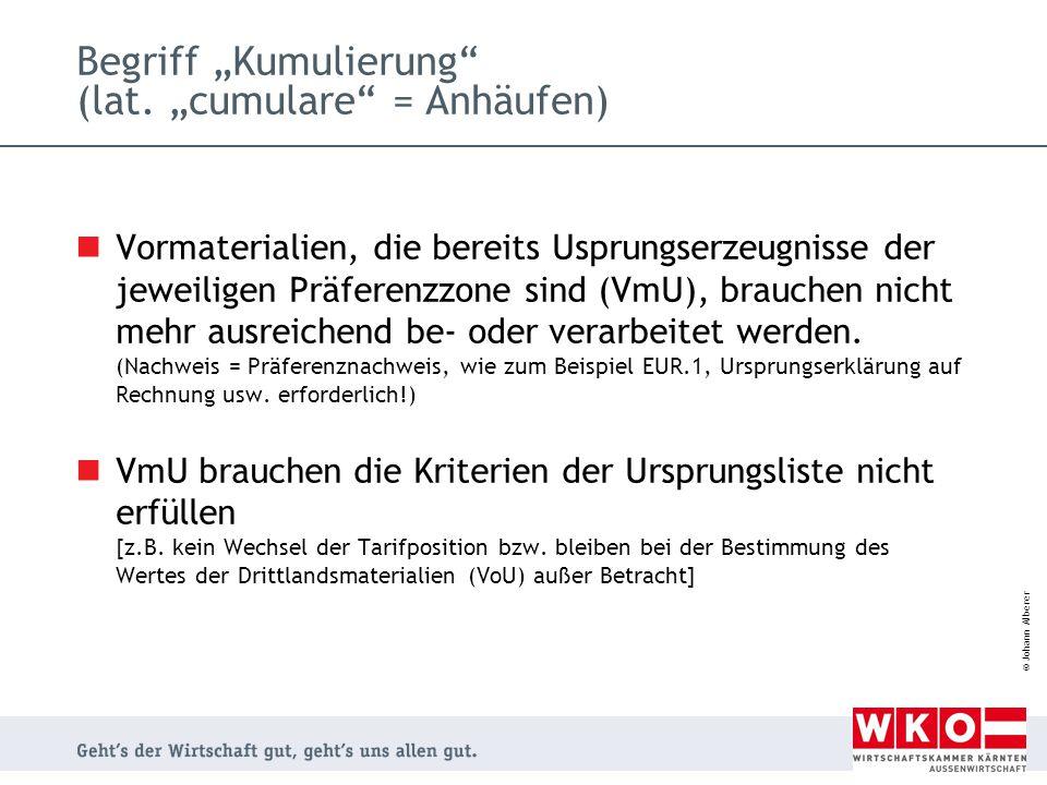 """Begriff """"Kumulierung (lat. """"cumulare = Anhäufen)"""