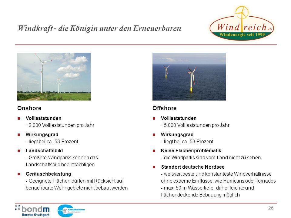 Windkraft - die Königin unter den Erneuerbaren