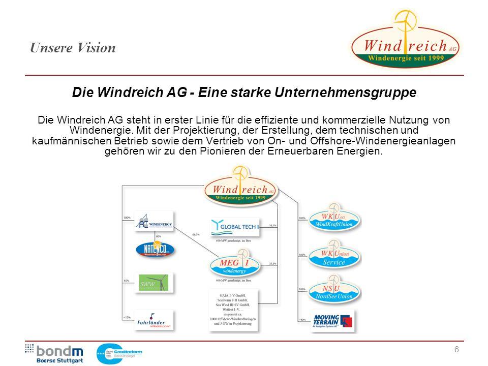 Die Windreich AG - Eine starke Unternehmensgruppe