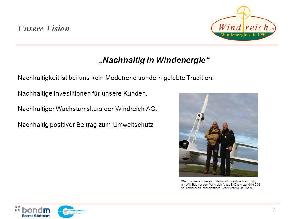 """""""Nachhaltig in Windenergie"""