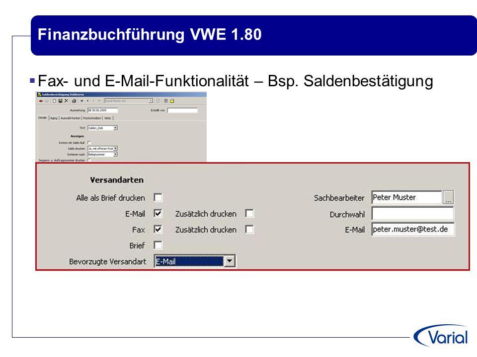 Finanzbuchführung VWE 1.80