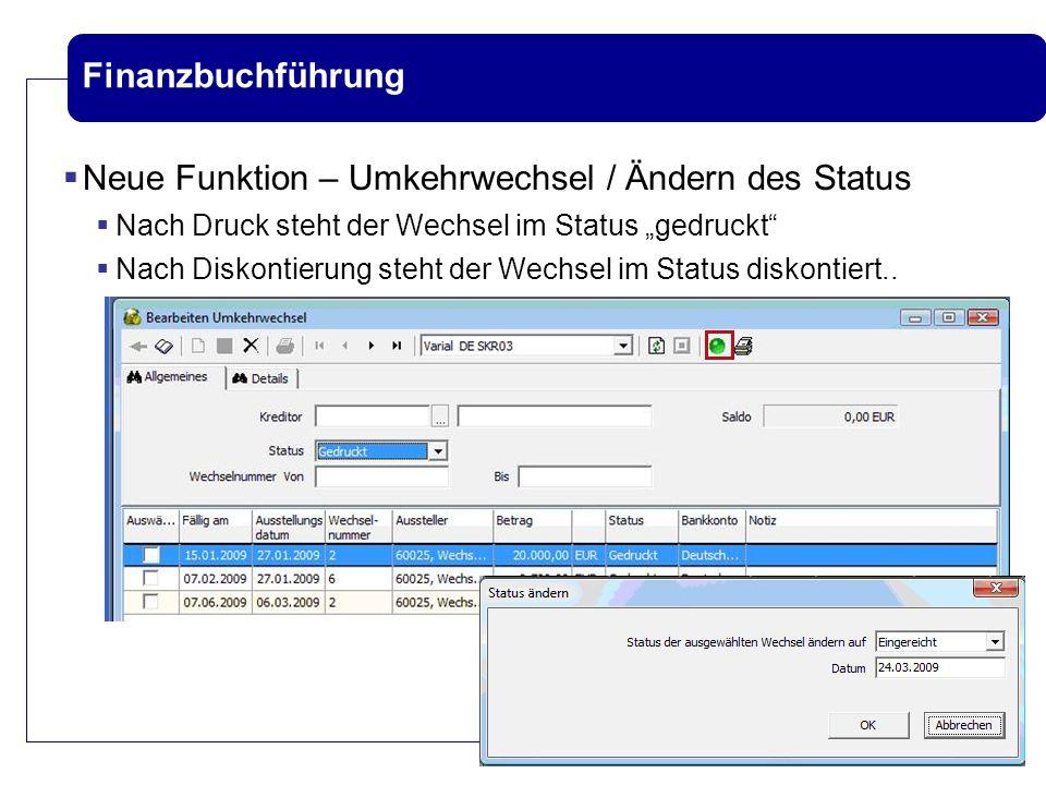 Neue Funktion – Umkehrwechsel / Ändern des Status