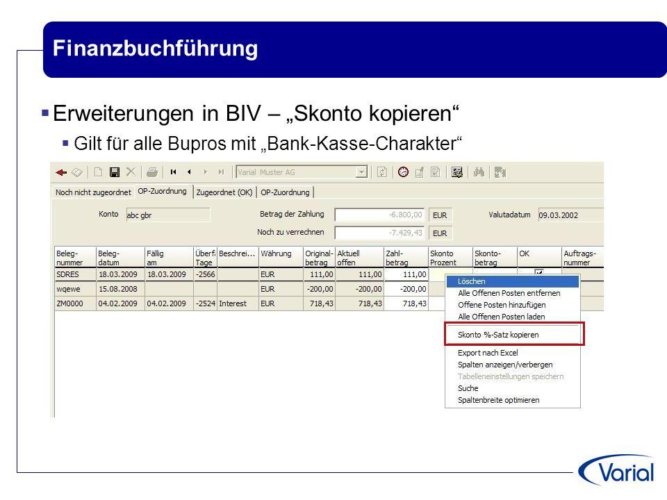 """Erweiterungen in BIV – """"Skonto kopieren"""